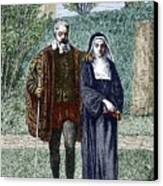 Galileo And His Daughter Maria Celeste Canvas Print by Sheila Terry