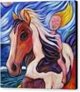 Gallop Along The Beach Canvas Print