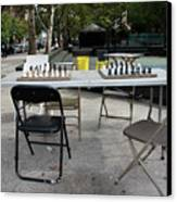 Game Of Chess Anyone Canvas Print by Terry Wallace