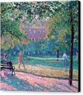 Game Of Tennis Canvas Print by Spencer Frederick Gore
