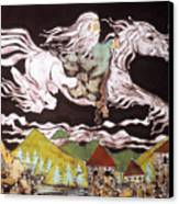 Gandalf And Shadowfax Canvas Print by Carol Law Conklin