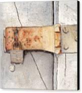 Garage Lock Number Two Canvas Print