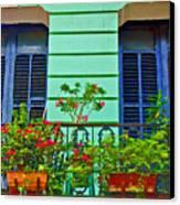 Garden Balcony Canvas Print
