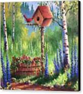 Garden Birdhouse Canvas Print