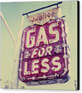 Gas For Less Canvas Print