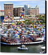 Gasparilla And Harbor Island Florida Canvas Print