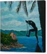 Gateway To Portofino Canvas Print by Charlotte Blanchard