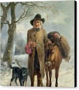 Gathering Winter Fuel  Canvas Print by John Barker