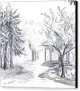 Gazebo Canvas Print by Brandy Woods