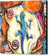 Gecko Canvas Print by Patricia Allingham Carlson