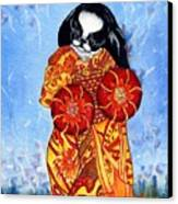 Geisha Chin Canvas Print