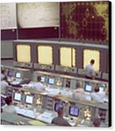 Gemini Mission Control Canvas Print by Nasa/Science Source