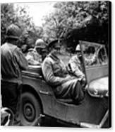 General Eisenhower In A Jeep Canvas Print