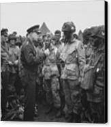 General Eisenhower On D-day  Canvas Print by War Is Hell Store