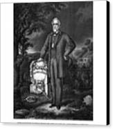 General Lee Visits The Grave Of Stonewall Jackson Canvas Print