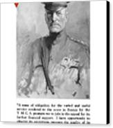 General Pershing - United War Works Campaign Canvas Print