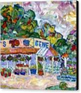Gene's Farm Stand Canvas Print by Popo  Flanigan