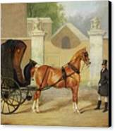 Gentlemen's Carriages - A Cabriolet Canvas Print by Charles Hancock
