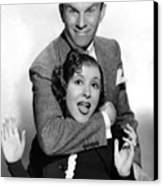 George Burns And Gracie Allen, 1936 Canvas Print