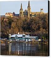 Georgetown University Waterfront  Canvas Print by Brendan Reals