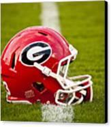 Georgia Bulldogs Football Helmet Canvas Print by Replay Photos