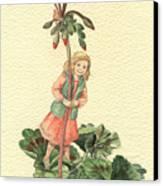 Geranium Girl Canvas Print