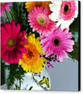 Gerbera Daisy Bouquet Canvas Print
