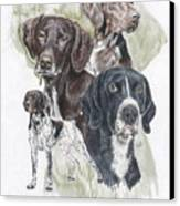 German Shorted-haired Pointer W/ghost Canvas Print