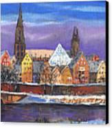 Germany Ulm Panorama Winter Canvas Print