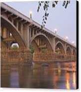 Gervais Bridge Canvas Print by Steven Richardson