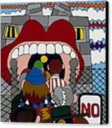Get A Job Canvas Print by Rojax Art