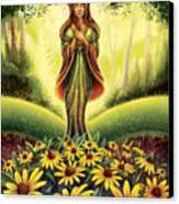 Get Grounded - Black Eyed Susan Canvas Print