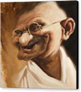 Ghandi Canvas Print by Court Jones
