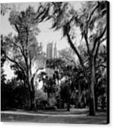 Ghostly Bok Tower Canvas Print