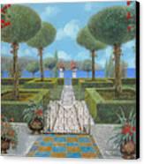 Giardino Italiano Canvas Print by Guido Borelli