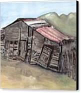 Gila New Mexico Cattle Barn Canvas Print