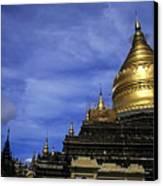 Gilded Stupa Of The Shwezigon Pagoda In Bagan Canvas Print