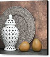 Ginger Jar With Pears I Canvas Print by Tom Mc Nemar