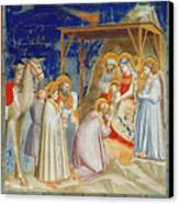 Giotto: Adoration Canvas Print by Granger