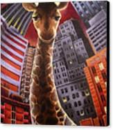 Giraffes Often Starve In Babylon Canvas Print