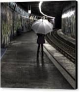 Girl At Subway Station Canvas Print by Joana Kruse