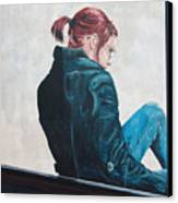 Girl In The Window-sfai Canvas Print