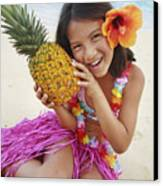 Girl In Tropical Paradise Canvas Print by Brandon Tabiolo - Printscapes
