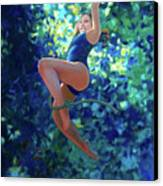 Girl On A Rope Canvas Print by Kevin Lawrence Leveque