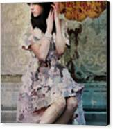 Girl With Parasol Canvas Print by Elena Nosyreva