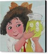 Girls With Lemonade Canvas Print