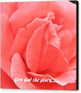 Give God The Glory Canvas Print