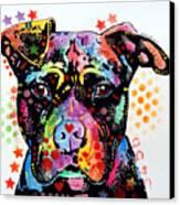 Give Love Pitbull Canvas Print
