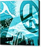 Give Peace A Shirt Canvas Print by Chuck Taylor