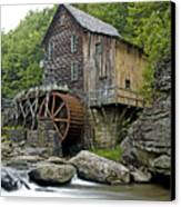 Glade Creek Grist Mill Located In Babcock State Park West Virginia Canvas Print by Brendan Reals